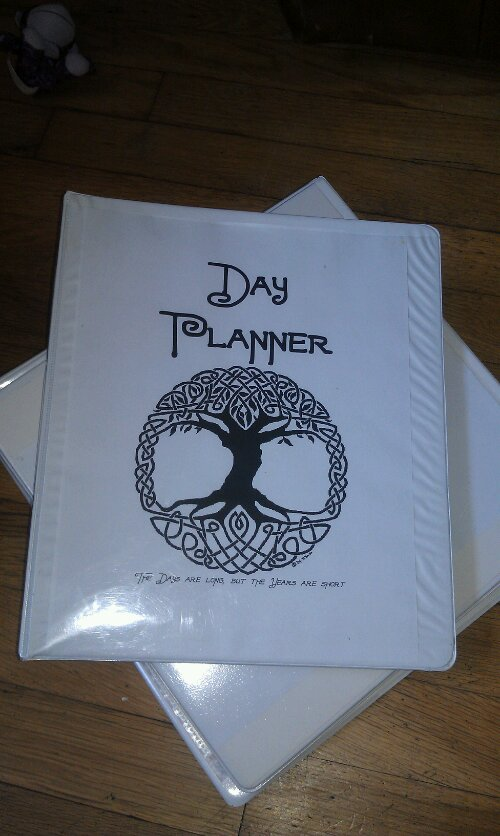 Day planner and homemakers binder
